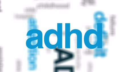 hiány : ADHD animated word cloud, text design animation.