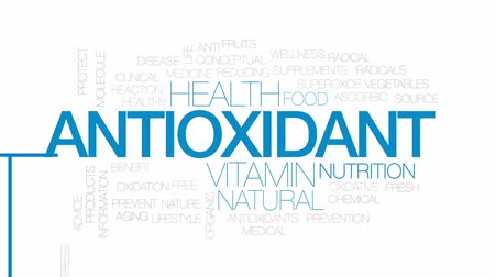 oxidation : Antioxidant animated word cloud, text design animation.