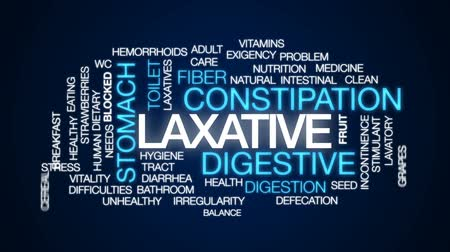 tuvalet : Laxative animated word cloud, text design animation. Stok Video
