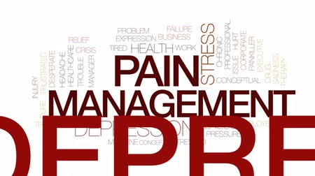 lekarstwo : Pain management animated word cloud, text design animation.