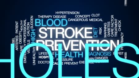 factor : Stroke prevention animated word cloud, text design animation.