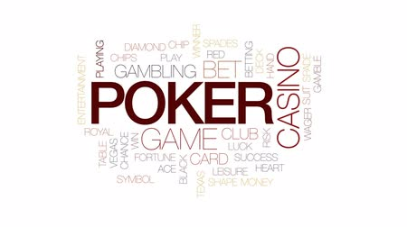 pikk : Poker animated word cloud, text design animation. Kinetic typography.