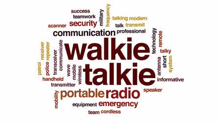 transmit : Walkie talkie animated word cloud, text design animation.