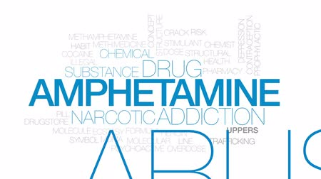 methamphetamine : Amphetamine animated word cloud, text design animation. Kinetic typography.