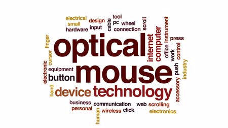 kursor : Optical mouse animated word cloud, text design animation.