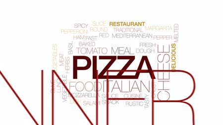 crust : Pizza animated word cloud, text design animation. Kinetic typography.