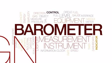 barometr : Barometer animated word cloud, text design animation. Kinetic typography.