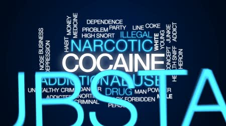 rachaduras : Cocaine animated word cloud, text design animation.