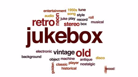 collectible : Jukebox animated word cloud, text design animation.