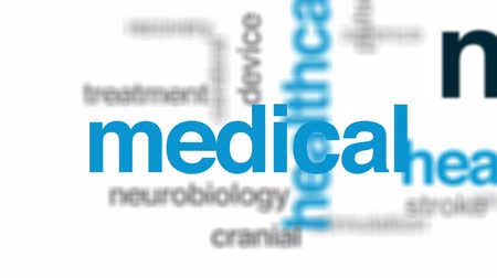 nerves : Neurosurgeon animated word cloud, text design animation. Stock Footage