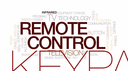 switch : Remote control animated word cloud, text design animation. Kinetic typography. Stock Footage