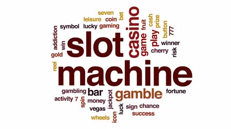 sete : Slot machine animated word cloud, text design animation.