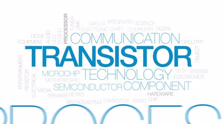 entegre : Transistor animated word cloud, text design animation. Kinetic typography. Stok Video