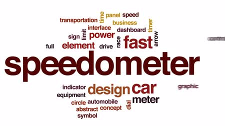 bitola : Speedometer animated word cloud, text design animation. Vídeos