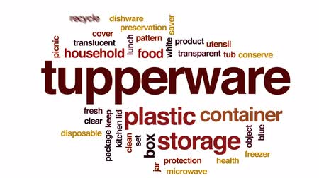 konzervace : Tupperware animated word cloud, text design animation. Dostupné videozáznamy