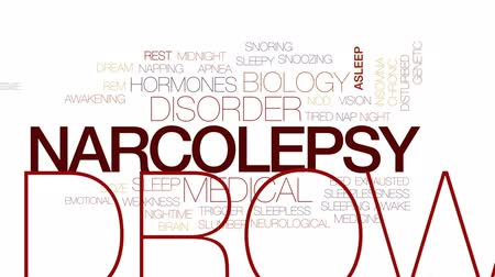 bezsennosć : Narcolepsy animated word cloud, text design animation. Kinetic typography.