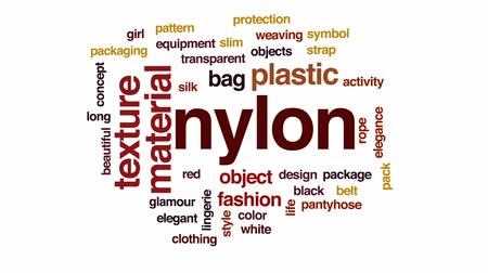 bez szwu : Nylon animated word cloud, text design animation.