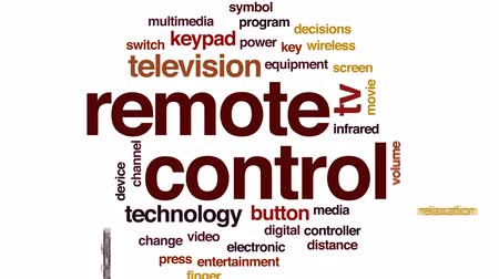 infrared : Remote control animated word cloud, text design animation. Stock Footage