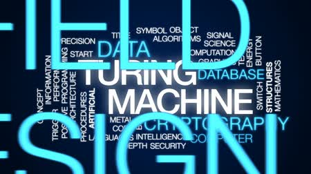 gatilho : Turing machine animated word cloud, text design animation. Vídeos