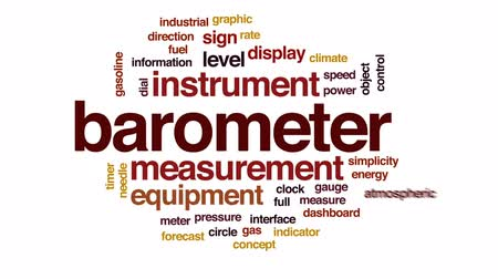 barometr : Barometer animated word cloud, text design animation.