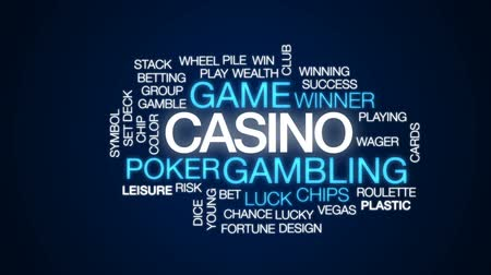 patins : Casino animated word cloud, text design animation. Stock Footage