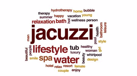 джакузи : Jacuzzi animated word cloud, text design animation.