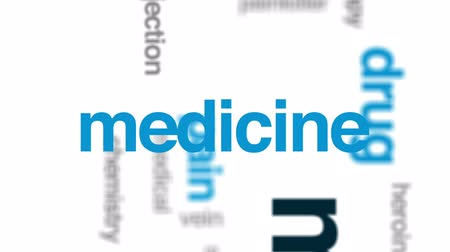 intoxication : Morphine animated word cloud, text design animation. Stock Footage