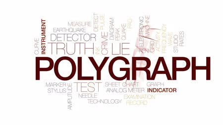 hazugság : Polygraph animated word cloud, text design animation. Kinetic typography.