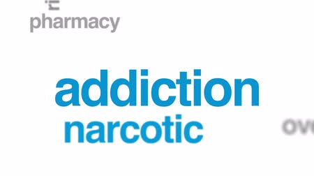 produtos químicos : Amphetamine animated word cloud, text design animation. Stock Footage