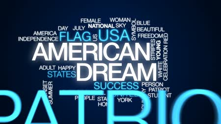 usa independence day : American dream animated word cloud, text design animation. Stock Footage