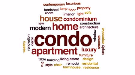 remodelar : Condo animated word cloud, text design animation.