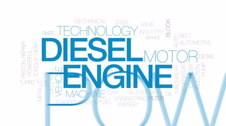 pompki : Diesel engine animated word cloud, text design animation. Kinetic typography.