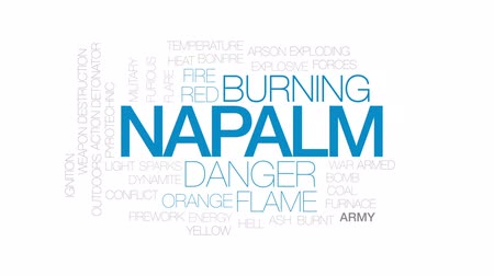hamu : Napalm animated word cloud, text design animation. Kinetic typography.