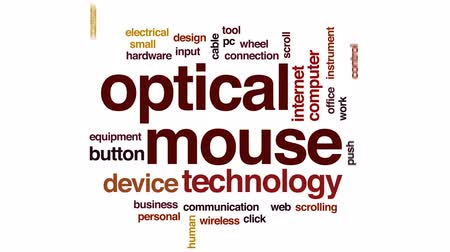enstrüman : Optical mouse animated word cloud, text design animation.