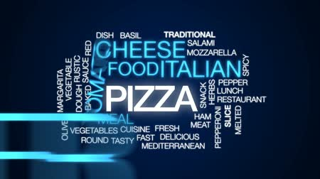 derretido : Pizza animated word cloud, text design animation.