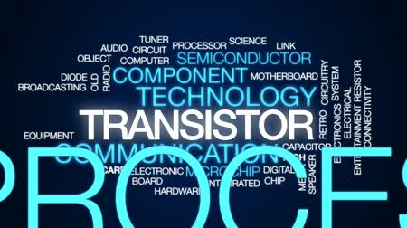 entegre : Transistor animated word cloud, text design animation.