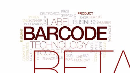 leitor : Barcode animated word cloud, text design animation. Kinetic typography.