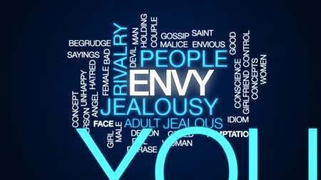 сплетни : Envy animated word cloud, text design animation.