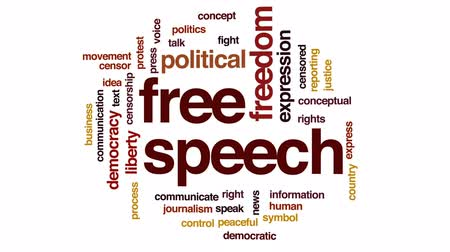 jornalismo : Free speech animated word cloud, text design animation. Stock Footage