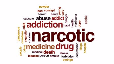 kokaina : Narcotic animated word cloud, text design animation. Wideo