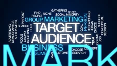 minority group : Target audience animated word cloud, text design animation. Stock Footage