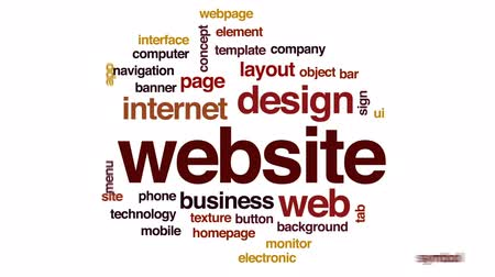 web sites : Website animated word cloud, text design animation.