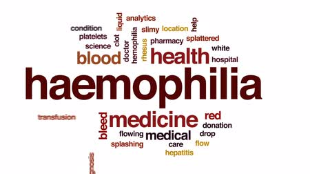 adomány : Haemophilia animated word cloud, text design animation. Stock mozgókép
