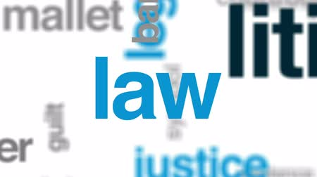 tribunal : Litigation animated word cloud, text design animation. Stock Footage