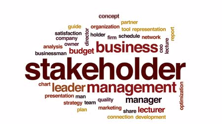 dyrektor : Stakeholder animated word cloud, text design animation.
