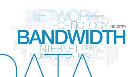 Bandwidth animated word cloud, text design animation. Kinetic typography. Wideo