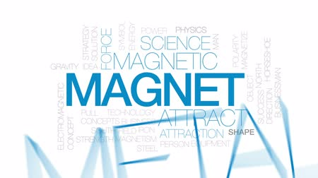 привлекать : Magnet animated word cloud, text design animation. Kinetic typography. Стоковые видеозаписи