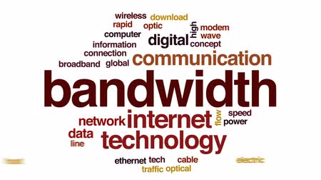fibra : Bandwidth animated word cloud, text design animation. Stock Footage