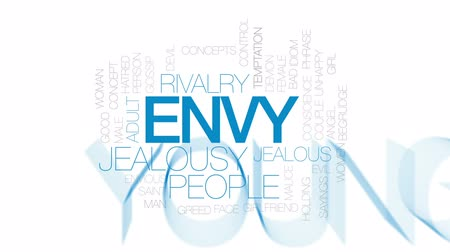сплетни : Envy animated word cloud, text design animation.Kinetic typography.