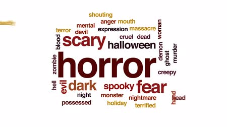 lidércnyomás : Horror animated word cloud, text design animation.